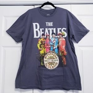 THE BEATLES Size XL Gray Sargent Pepper T-Shirt